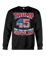 Trump 45 find your safe space snowflake Crewneck Sweatshirt thumbnail