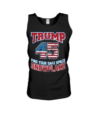 Trump 45 find your safe space snowflake Unisex Tank thumbnail