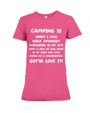 Camping Is When I Can Walk Premium Fit Ladies Tee thumbnail