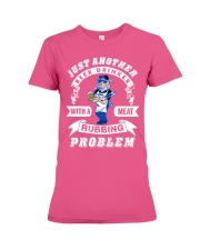 Just another beer drinker with a meat rubbing Premium Fit Ladies Tee thumbnail