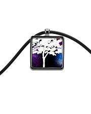 A black cup with a beautiful picture of a tree     Cord Rectangle Necklace thumbnail