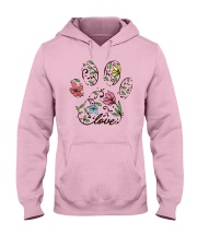 Floral Cat paw Hooded Sweatshirt front