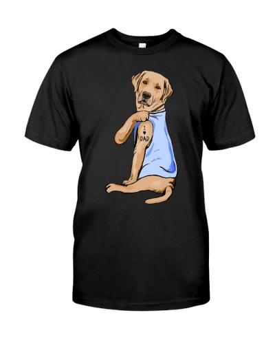 Labrador love dad