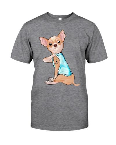 Chihuahua love grandpa