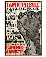 I am a pitbull 16x24 Poster front