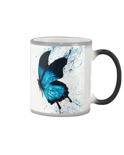 Butterfly splash paint