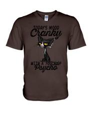 Today's mood V-Neck T-Shirt thumbnail