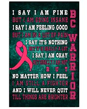 Breast Cancer Warrior 11x17 Poster front