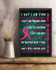 Breast Cancer Warrior 11x17 Poster lifestyle-poster-3