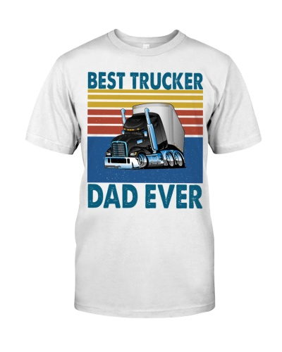 Best Trucker Dad Ever Vintage