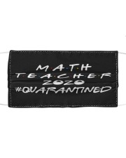 Math Teacher Cloth face mask front