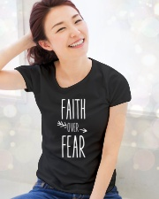 Faith Over Fear Ladies T-Shirt lifestyle-holiday-womenscrewneck-front-1