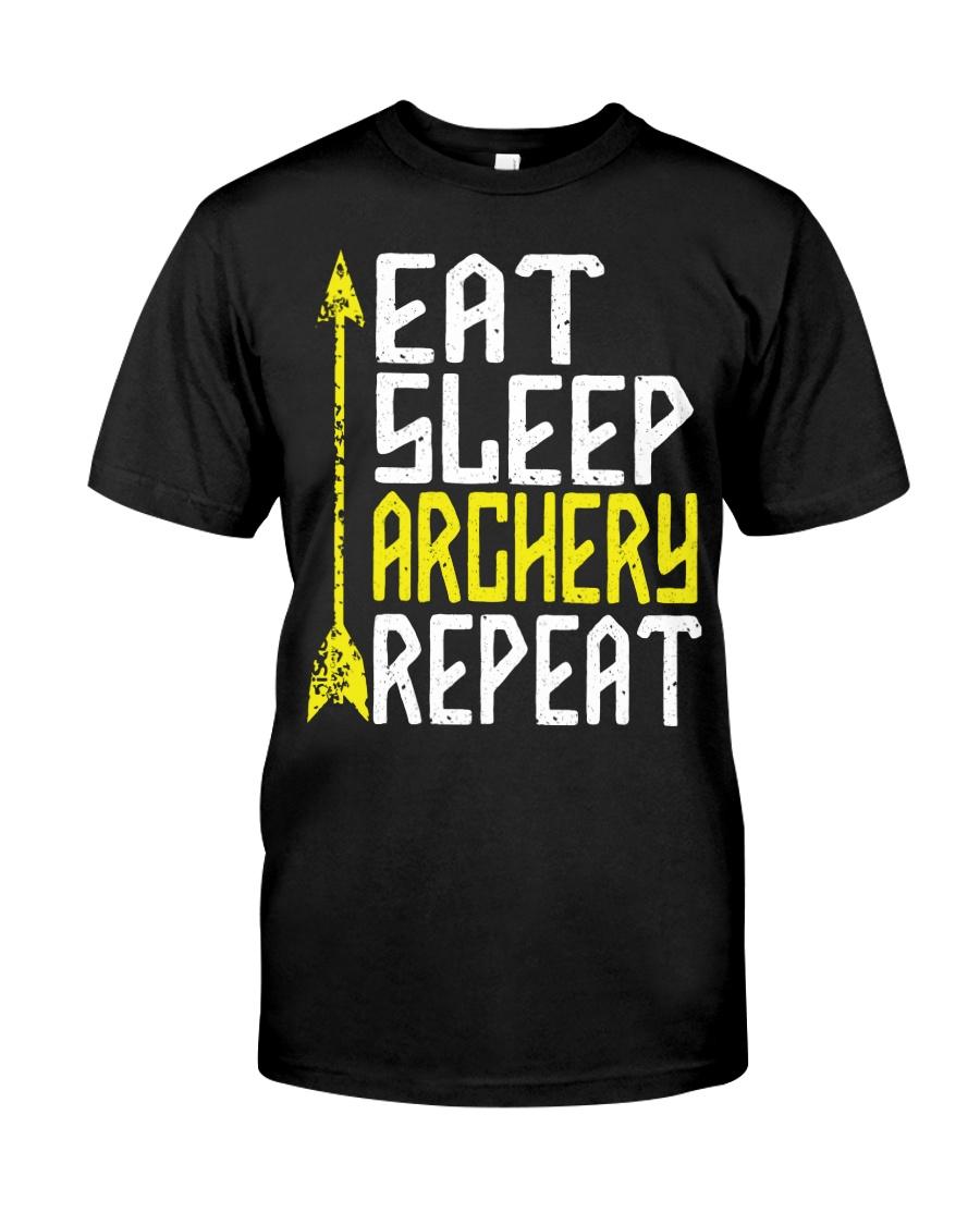 Eat Sleep Archery Repeat-Sports Hobby Classic T-Shirt