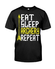 Eat Sleep Archery Repeat-Sports Hobby Classic T-Shirt front