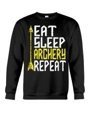 Eat Sleep Archery Repeat-Sports Hobby Crewneck Sweatshirt thumbnail