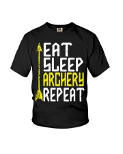 Eat Sleep Archery Repeat-Sports Hobby Youth T-Shirt thumbnail