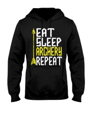 Eat Sleep Archery Repeat-Sports Hobby Hooded Sweatshirt thumbnail