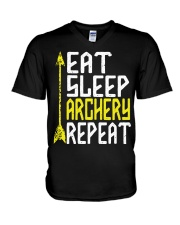 Eat Sleep Archery Repeat-Sports Hobby V-Neck T-Shirt thumbnail