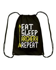 Eat Sleep Archery Repeat-Sports Hobby Drawstring Bag thumbnail