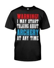Archery Warning-Sports Hobby Premium Fit Mens Tee thumbnail