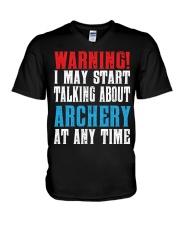 Archery Warning-Sports Hobby V-Neck T-Shirt thumbnail