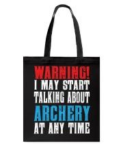 Archery Warning-Sports Hobby Tote Bag thumbnail