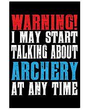 Archery Warning-Sports Hobby 11x17 Poster thumbnail