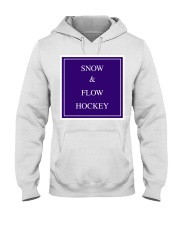 Snow and Flow Hockey Design Hooded Sweatshirt tile