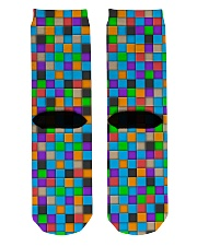 Colorful Tiles Abstract Pattern  Crew Length Socks back