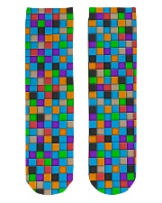 Colorful Tiles Abstract Pattern  Crew Length Socks front