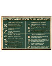 Cycling Retro Green Work On Bike Maintenance 17x11 Poster front