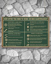 Cycling Retro Green Work On Bike Maintenance 17x11 Poster poster-landscape-17x11-lifestyle-13