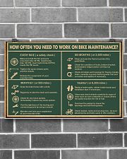 Cycling Retro Green Work On Bike Maintenance 17x11 Poster poster-landscape-17x11-lifestyle-18