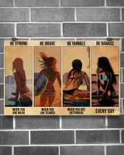 Surfing Be Strong When You Are Weak 17x11 Poster aos-poster-landscape-17x11-lifestyle-18