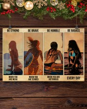 Surfing Be Strong When You Are Weak 17x11 Poster aos-poster-landscape-17x11-lifestyle-27