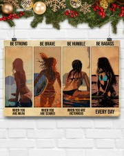 Surfing Be Strong When You Are Weak 17x11 Poster aos-poster-landscape-17x11-lifestyle-28