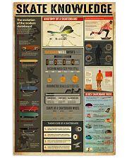 Skateboard Skate Knowledge 11x17 Poster front