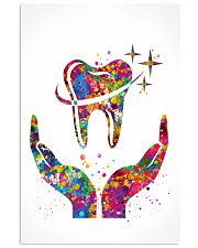 Dentist Caring Your Teeth Watercolor Art 11x17 Poster front