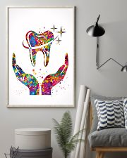 Dentist Caring Your Teeth Watercolor Art 11x17 Poster lifestyle-poster-1