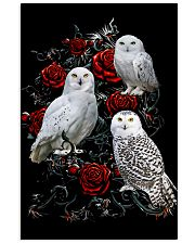 Owls And Roses 11x17 Poster front