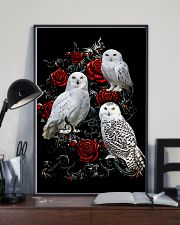 Owls And Roses 11x17 Poster lifestyle-poster-2