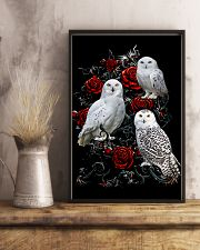 Owls And Roses 11x17 Poster lifestyle-poster-3