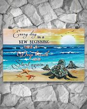 New Beginning Turtle 17x11 Poster poster-landscape-17x11-lifestyle-13
