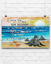 New Beginning Turtle 17x11 Poster poster-landscape-17x11-lifestyle-17