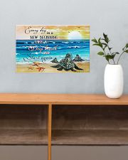 New Beginning Turtle 17x11 Poster poster-landscape-17x11-lifestyle-24