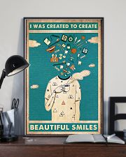 Dentist I Was Created To Create Beautiful Smiles 11x17 Poster lifestyle-poster-2