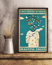 Dentist I Was Created To Create Beautiful Smiles 11x17 Poster lifestyle-poster-3