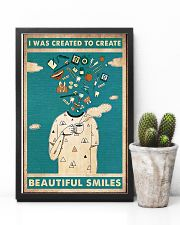 Dentist I Was Created To Create Beautiful Smiles 11x17 Poster lifestyle-poster-8