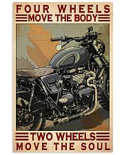 Motorcycle Two Wheels Move The Soul 11x17 Poster front