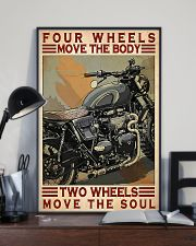 Motorcycle Two Wheels Move The Soul 11x17 Poster lifestyle-poster-2